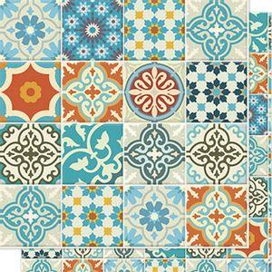 Papel-Scrapbook-Litoarte-SD-028N-Dupla-Face-305X305cm-Azulejo
