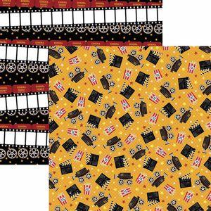 Papel-Scrapbook-Toke-e-Crie-SDF797-Dupla-Face-305x305cm-Cinema-Cameras