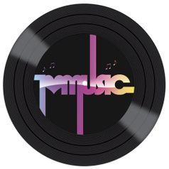 Placa-Decorativa-Litocart-LPDVP-007-20x20cm-Disco-Vinil-I-Love-Music