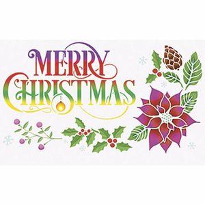 Stencil-Litoarte-STNGG-025-Pintura-Simples-344x21cm-Natal-Arranjo-Merry-Christmas