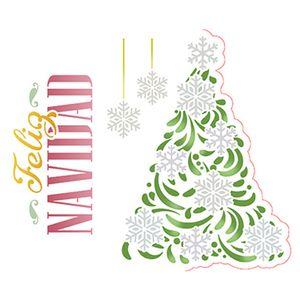 Stencil-Litoarte-Natal-STMN-037-172x21cm-Pintura-Simples-Arvore-Natalina-Feliz-Navidad-by-Mara-Fernandes