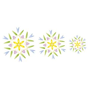 Stencil-Litoarte-Natal-STNGG-009-Pintura-Simples-Flocos-de-Neve-II