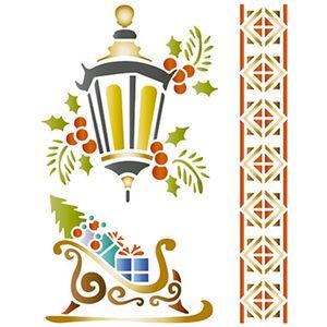 Stencil-Litoarte-Natal-STMN-042-172x21cm-Pintura-Simples-Luminaria-Treno-e-Barra