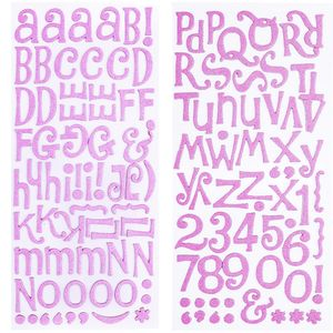 Adesivo-Thickers-Chipboard-American-Crafts-WER053-Alfabeto-Glitter-Rosa-Claro-2-Unidades