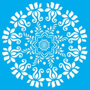 Stencil-Litocart-LSQ-064-Pintura-Simples-20x20cm-Mandala-Colonial