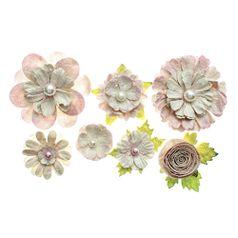 Flores-Artesanais-Sortidas-Toke-e-Crie-FLOR160-Rose-Colecao-Classica-com-Glitter-e-Perola