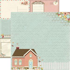 Papel-Scrapbook-Toke-e-Crie-SDF811-Dupla-Face-305x305cm-Minha-Familia-Casa