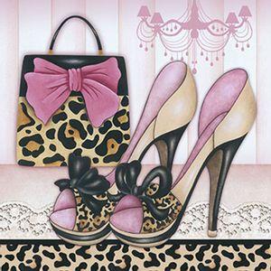 Papel-Decoupage-Adesiva-Litoarte-DAXV-019-15x15cm-Sapatos-com-Bolsa