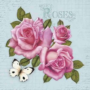 Papel-Decoupage-Adesiva-Litoarte-DA20-046-20x20cm-Rosas-e-Borboleta