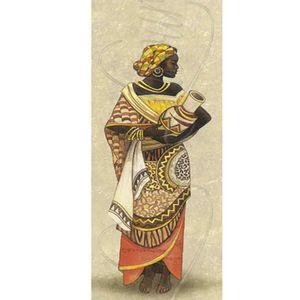 Papel-Decoupage-Arte-Francesa-Litoarte-AFP-049-25x10cm-Africana-Segurando-Vaso