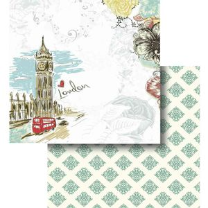 Papel-Scrapbook-Litocart-LSCD-414-Dupla-Face-305x305cm-London
