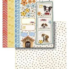 Papel-Scrapbook-Litocart-LSCD-419-Dupla-Face-305x305cm-I-Love-Dog