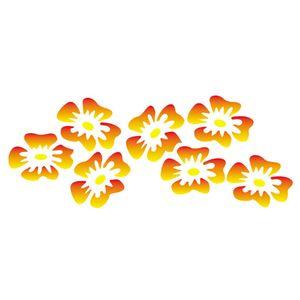 Stencil-Opa-10x30cm-para-Pintura-Simples-OPA027-Flores-Tropicais