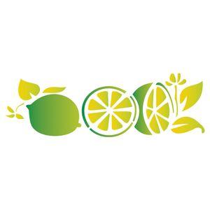 Stencil-Opa-17x42cm-para-Pintura-Simples-OPA1229-Limoes