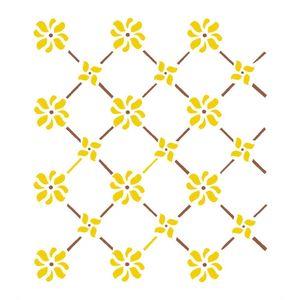 Stencil-Opa-15x20cm-para-Pintura-Simples-OPA244-Cerca-Flores