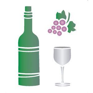 Stencil-Opa-15x20cm-para-Pintura-Simples-OPA752-Vinho