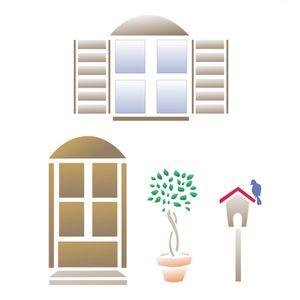 Stencil-Opa-15x20cm-para-Pintura-Simples-OPA1068-Porta-e-Janela