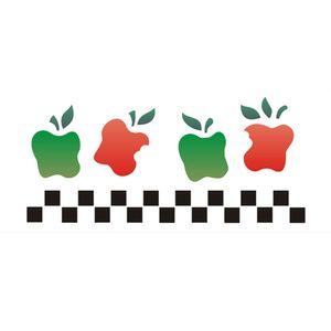 Stencil-Opa-10x30cm-para-Pintura-Simples-OPA1034-Frutas-Macas-Country