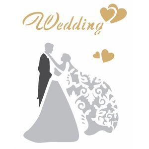 Stencil-Opa-15x20cm-para-Pintura-Simples-OPA2344-Casamento-Wedding