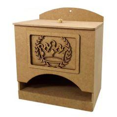 Porta-Fraldas-3D-em-MDF-Coroa-Romana-245x16x21cm---Palacio-da-Arte