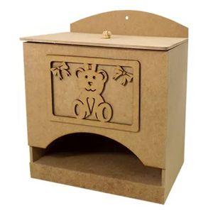 Porta-Fraldas-3D-em-MDF-Ursinha-com-Laco-245x16x21cm---Palacio-da-Arte