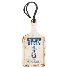 Placa-TAG-MDF-Decorativa-Litoarte-DHT2-029-143x7cm-Eu-ia-Fazer-Dieta