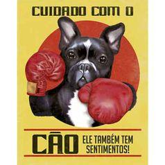 Placa-Decorativa-Litoarte-DHPM-320-24x19cm-Cuidado-com-o-Cao