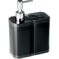 Kit-Porta-Sabonete-Liquido-e-Escovas-2-pecas-Preto-99096-7008---Coza