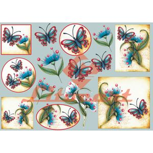 Papel-Decoupage-Grande-Flores-Borboleta-LD-670-Litocart-