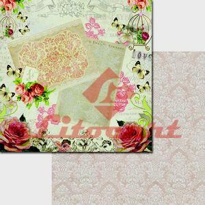 Papel-Scrapbook-Duplo-Flores-LSCD-200-Litocart