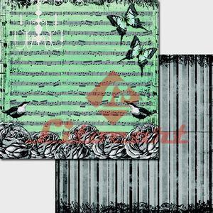 Papel-Scrapbook-Duplo-Passarinho-Flores-LSCD-210-Litocart
