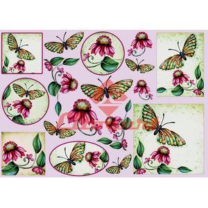 Papel-Decoupage-Grande-Flores-Borboleta-LD-669-Litocart