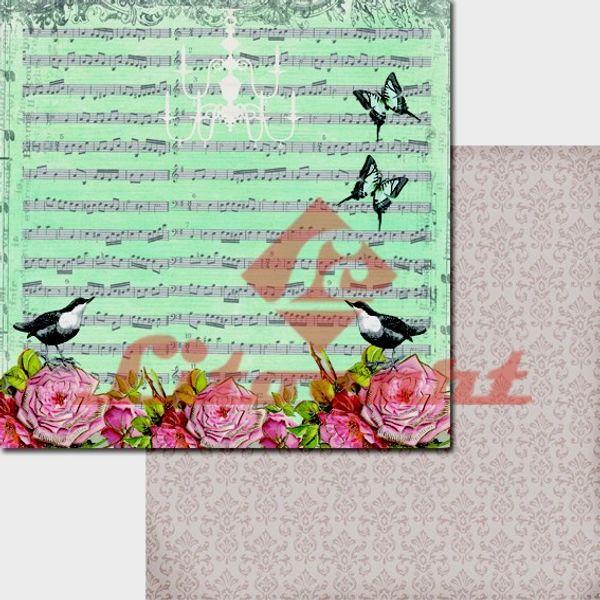 Papel-Scrapbook-Duplo-Passarinho-Flores-LSCD-206-Litocart