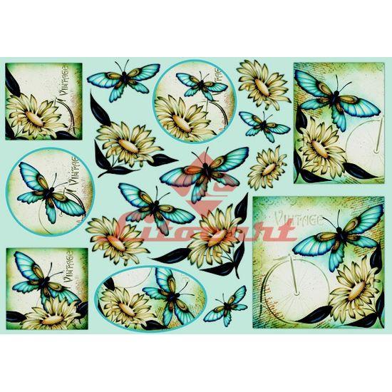 Papel-Decoupage-Grande-Flores-Borboleta-LD-668-Litocart