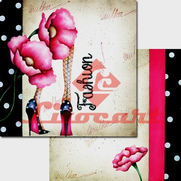 Papel-Scrapbook-Duplo-Flores-LSCD-223-Litocart-