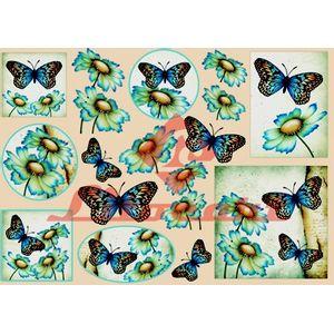 Papel-Decoupage-Grande-Flores-Borboleta-LD-676-Litocart