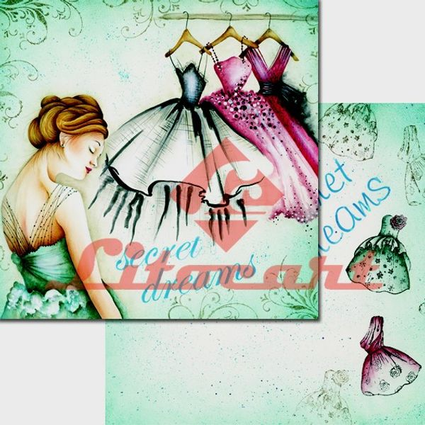 Papel-Scrapbook-Duplo-Flores-LSCD-220-Litocart