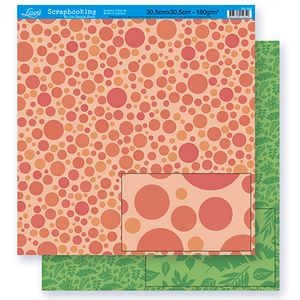 Scrapbook-Folha-Dupla-Face-Bolas-SD-282-Litoarte
