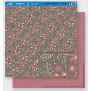 Scrapbook-Folha-Dupla-Face-Flores-SD-271-Litoarte