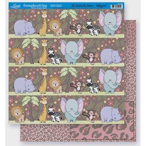 Scrapbook-Folha-Dupla-Face-Animais-SD-270-Litoarte