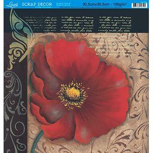 Papel-Scrap-Decor-Folha-Simples-Flores-SS-082---Litoarte-