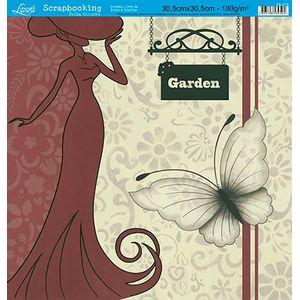 Papel-Scrap-Decor-Folha-Simples-Garden-SS-079---Litoarte