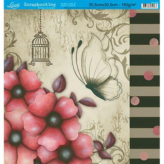 Papel-Scrap-Decor-Folha-Simples-Flores-SS-078---Litoarte