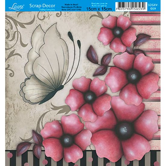 Papel-Scrap-Decor-Folha-Simples-15x15-Flores-SDSXV-009---Litoarte
