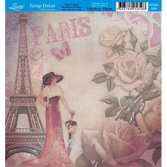 Papel-Scrap-Decor-Folha-Simples-15x15-Flores-Paris-SDSXV-006---Litoarte
