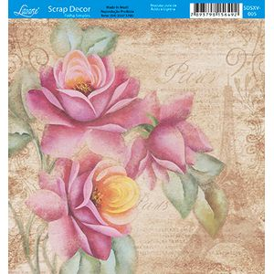 Papel-Scrap-Decor-Folha-Simples-15x15-Flores-Paris-SDSXV-005---Litoarte