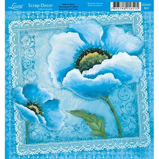 Papel-Scrap-Decor-Folha-Simples-15x15-Flores-SDSXV-007---Litoarte