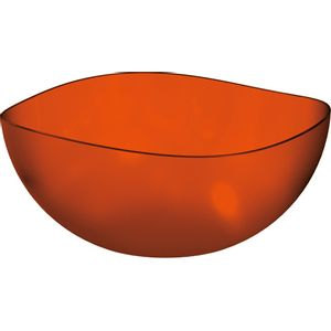 Saladeira-Ovalada-3L-Laranja-em-Poliestireno-UZ105-LA---UZ-Utilidades