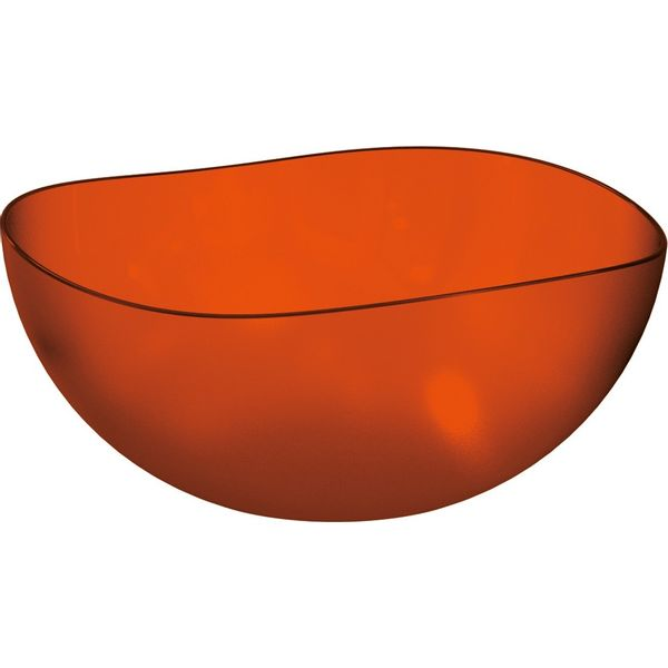 Saladeira-Ovalada-2L-Laranja-em-Poliestireno-UZ106-LA---UZ-Utilidades