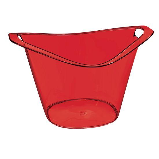 Balde-de-Gelo-Gold-8L-Vermelho-Poliestireno-UZ151-VM---UZ-Utilidades